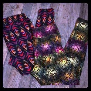 2 LuLaRoe T & C leggings new!